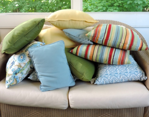 ~ Pretty Pillows Not Being Used By Me Today ~