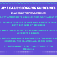 Because You Asked: My 5 Basic Blogging Guidelines